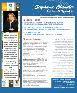 Stephanie Chandler - Professional Speaker Sheet